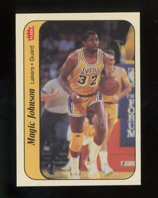 1986 Fleer Basketball Sticker #7 Magic Johnson
