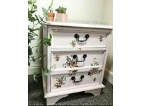 Stunning upcycle bedside cabinet 🌸