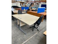 MAPLE WAVE OFFICE COMPUTER DESK,CANTILEVER LEGS , 1 X L AND 1 X R HANDS AVAILABLE