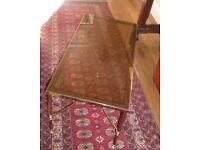 Vintage brass and glass occasional/coffee table