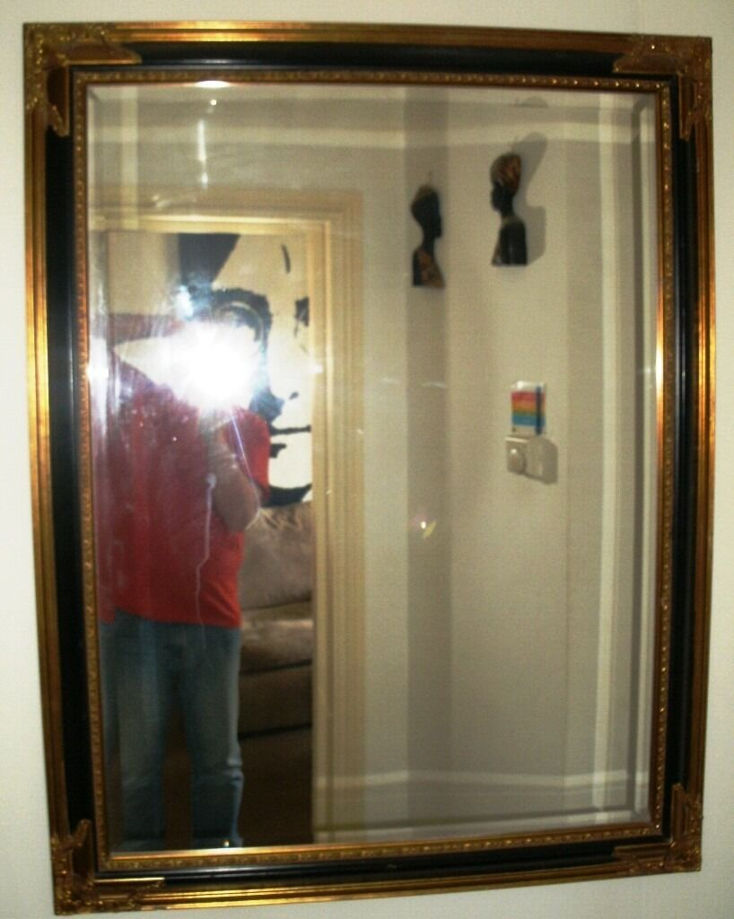 Mirror Beveled Edge 4 Foot By 3 Foot With A Purpose Made Gold