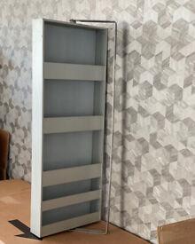 Ikea BJORDAL bathroom mirror swivel cabinet, silver metal finish - wall mounted