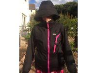 Trasspass rain coat black fleece linded size 8/10