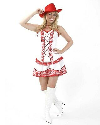 Susanne Kostüm Gr. 36 - 44 Cowgirl Line Dance weiß/rot Cowboy Damen - Line Dance Kostüm