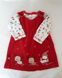 Baby Girls Christmas Pinafore and Long sleeved top outfit