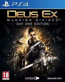 deus ex - mankind divided , ps4 , as new ! price stands , no offers !