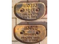 Shildon wagon railway plates