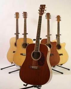 Sounds Nice ! Acoustic Guitar ; Free Guitar stand, eTuner and 5 picks ; Mizmor E600 Full size
