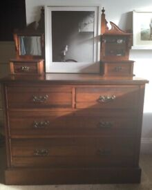 Edwardian dressing table with mirror.