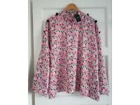 Marks and Spencer Collection Pink Top Blouse Size 20 Brand New with Tags Floral