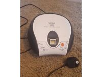 Lenco Portable CD Player/Radio in White – as new, in excellent condition