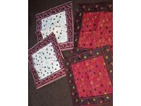Urgently selling brand new 4 beautifully hand woven cushion covers. Normal size.