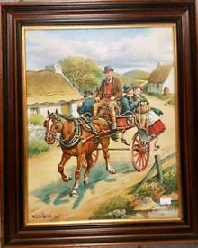 Highly collectable Roy Wallace painting