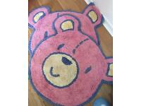 Bear face rugs x2 100% cotton and machine washable