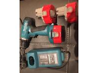 Makita 6281D drill, 3 x PA14 14.4v Batteries and DC1414F charger