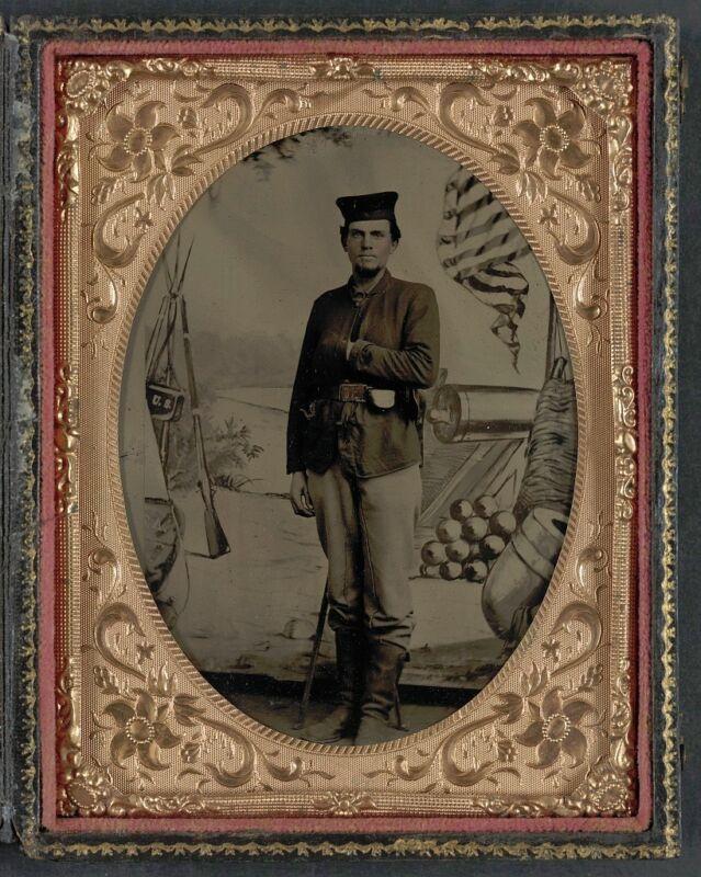 Photo Civil War Union Unidentified Soldier 12th Illinois Infantry Regiment