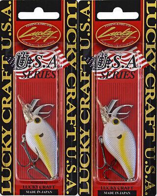 LOT OF 2 LUCKY CRAFT SKT MR 3//8OZ SKTMR-458 ONE FOUR ONE CRANKBAIT SQUARE BILL