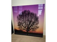 Tree with sunset acrylic wall art