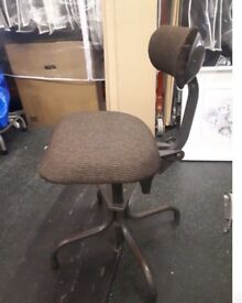 Vintage TanSad Industrial Office Chair
