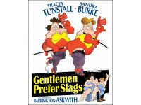 """The Fat Slags (The Viz) """"Gentlemen prefer Slags"""" large 30in x 22in canvas wall art movie poster."""