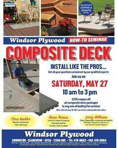 Get $250 Off Your Deck At Our Building & Knowledge Seminar Saturday May 27 From 10 am to 3pm free Coffee And Donuts