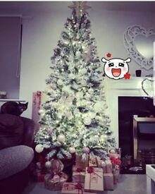 7ft Flocked Christmas Tree!