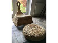 IKEA Gullholmen Rocking Chair WITH Alseda Stool