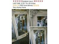 Antique white brand new shabby chic mirror sale