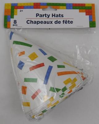 Building Blocks Lego Themed Party Supplies Party Hats New (Lego Themed Party)