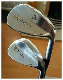 Miura Forged Series Wedges (53,59) Upgraded Shimada Shafts