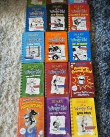Job lot of wimpy kid books