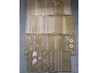 Assortment of gold outline stickers