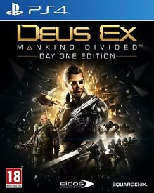 deus ex - mankind divided , ps4 , as new ! price stands , no offers ! willing to post !