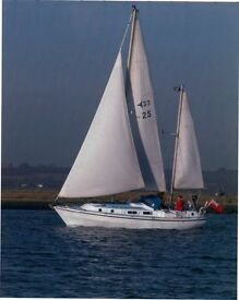 Westerly 33 Ketch, fin keel, 42 hp Mercedes engine, very good condition