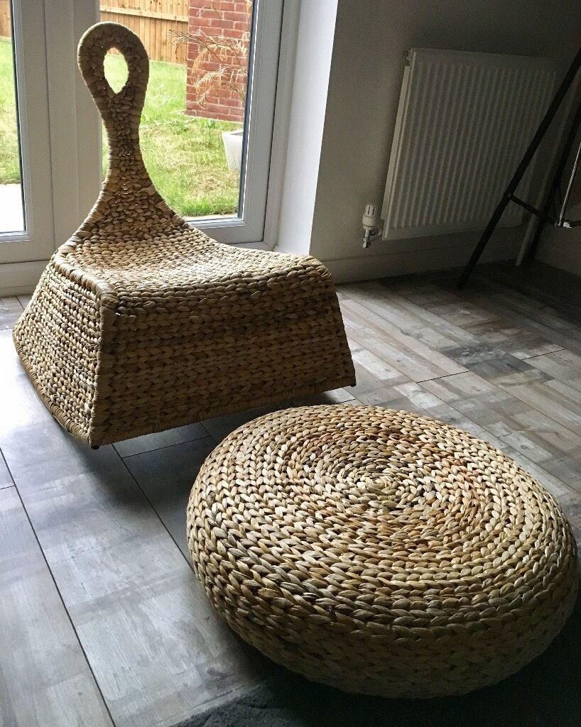 Ikea Gullholmen Rocking Chair With Matching Alseda Stool