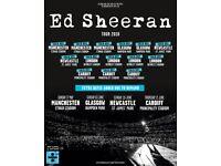 Ed Sheeran Glasgow Sat 2nd June Standing Tickets