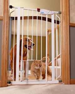 New, Carlson Extra Tall Walk Thru PET GATE, All Steel GATE + Small Pet DOOR