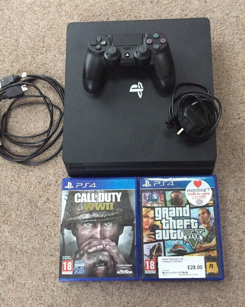 PS4 slim line hardly used