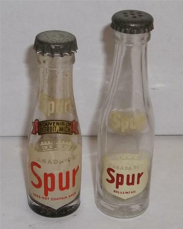Vintage Mini Canada Dry Spur Promotional Pop Soda Bottles