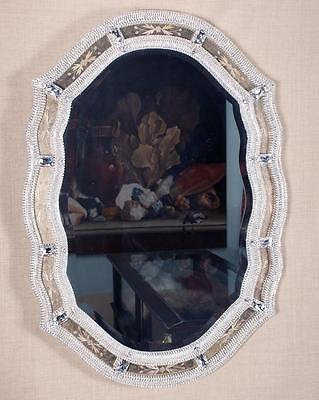 BEST OFFERS!$12000 MAGNFICENT OVAL VENETIAN MIRROR ADORNED W/ SWAROVSKI CRYSTALS