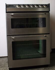 Zanussi Stainless Steel 60cm cooker, worn but refurbished, 1yr warranty, delivery/install available
