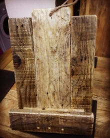 Rustic Handmade Cook Book Stand