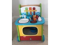 Toy Cooker on Wheels