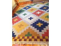 IKEA RUG. Pretty and colourful. Large. In excellent condition!