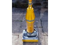 DYSON DC07 YELLOW UPRIGHT VACUUM CLEANER TESTED but NOT CLEANED with CREVICE TOOL