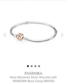 Rose gold clasp pandora bracelet
