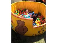 Large commercial ball pit.