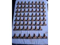 BULK JOB LOT of 62 LOCKSHIELD GATE VALVES 15mm & 22mm PLUMBING & HEATING