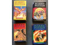 Harry Potter hard back books