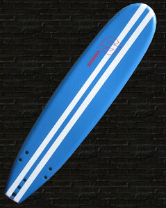 SOFT SURFBOARD SOFTBOARD (SHAKKA) 8 foot Beginner blue